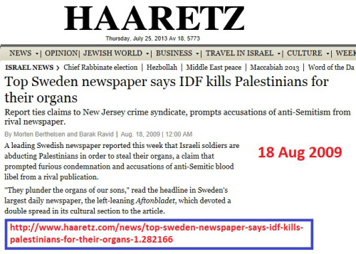 haaretz-top_sweden_newspaper_says_idf_kills_palestinians_for_their_organs