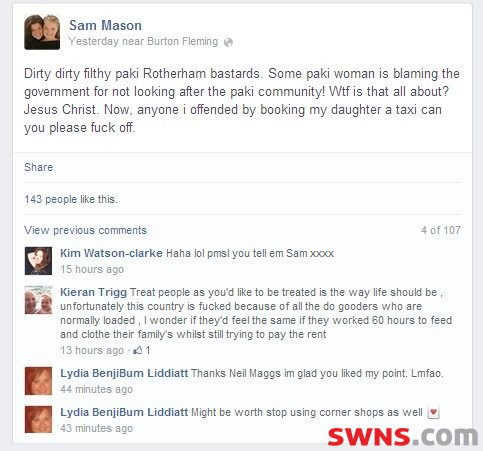 Sam-Mason-racist-Facebook-post