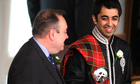 Alex Salmond with Humza Yousaf