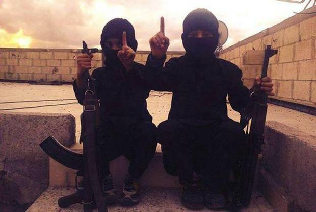 The one-finger salute is the salute of Isis