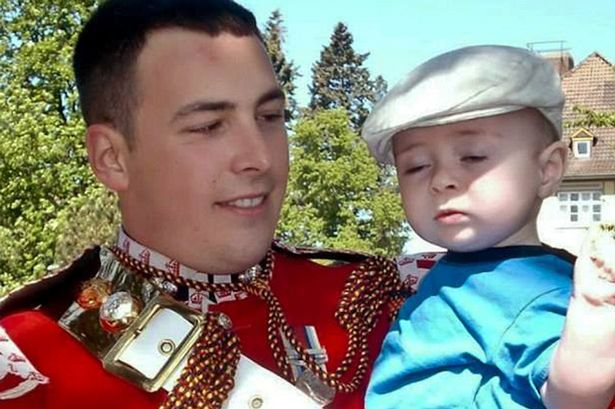 Lee Riby with his young son before he was slaughtered by Muslims in the streets of London