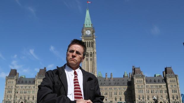Hassan Diab on Parliament Hill in Ottawa