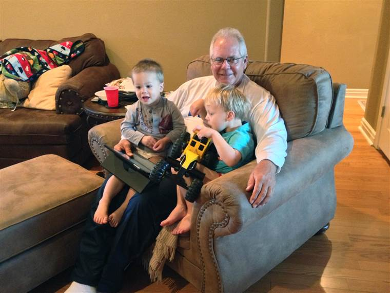 HENDERSON WITH HIS GRANDCHILDREN