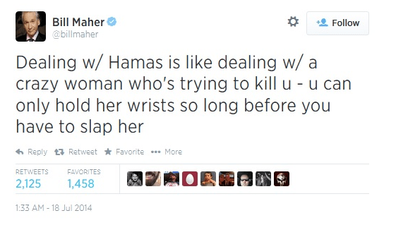 Bill-Maher-Squeezes-Bigotry-AND-Misogyny-Into-This-One-Disgraceful-Tweet-On-Gaza