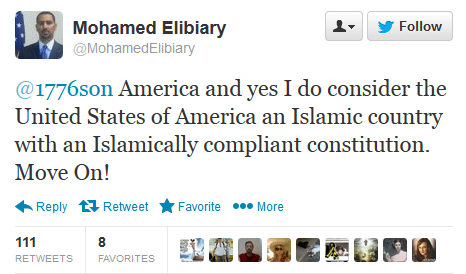 Muslilm Brotherhood member and Former Obama advisor, Mohamed Elibiary