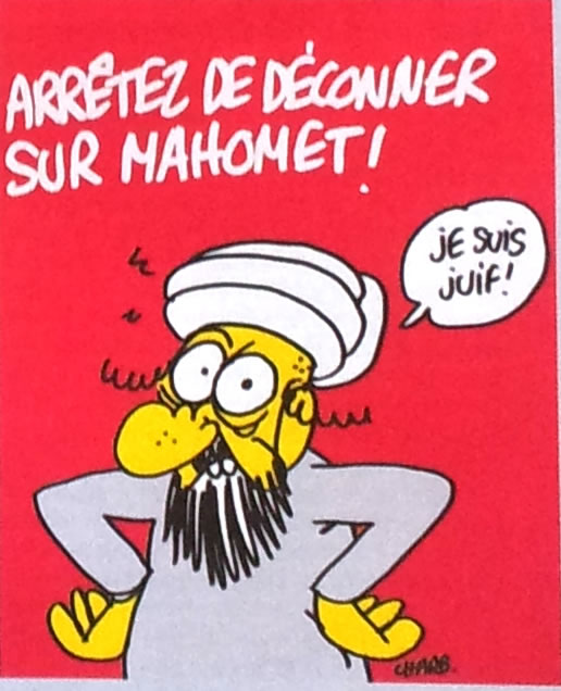 """CAPTION: """"STOP INSULTING MOHAMMED. I AM JEWISH."""""""