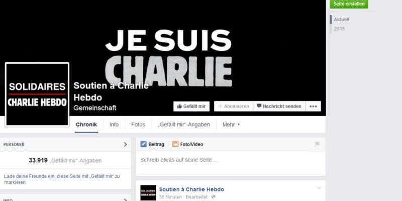I am Charlie Facebook Page