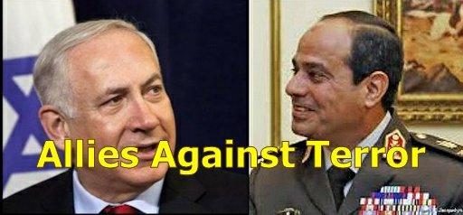 PM Benjamin Netanyahu y el presidente al-Sisi de Egipto