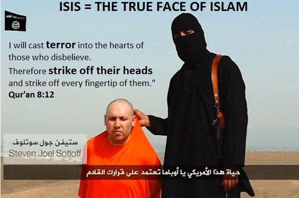 ISIS BEHEADING TRUE FACE OF ISLAM