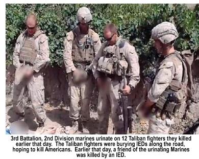 Urinating Marines