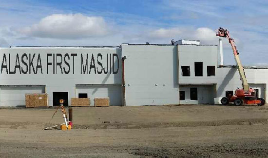 A relatively small Muslim community in America's far north western state of Alaska have put final touches on their first mosque.