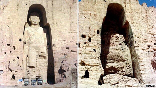 The Taliban reportedly spent 25 days demolishing the Bamiyan Buddhas