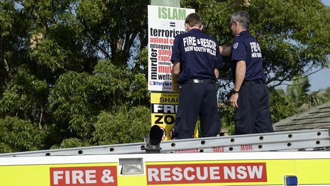 Fire & Rescue have nothing better to do than take down signs?
