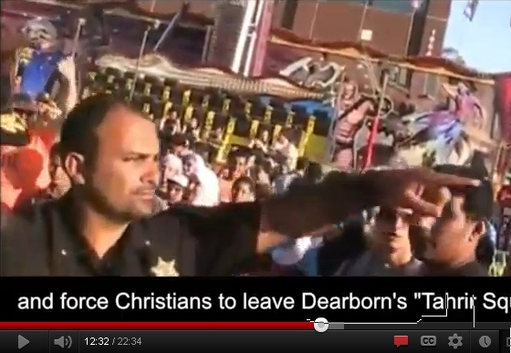 Muslim police officers in Dearborn kicked out Christians from a public Arab -American street festival