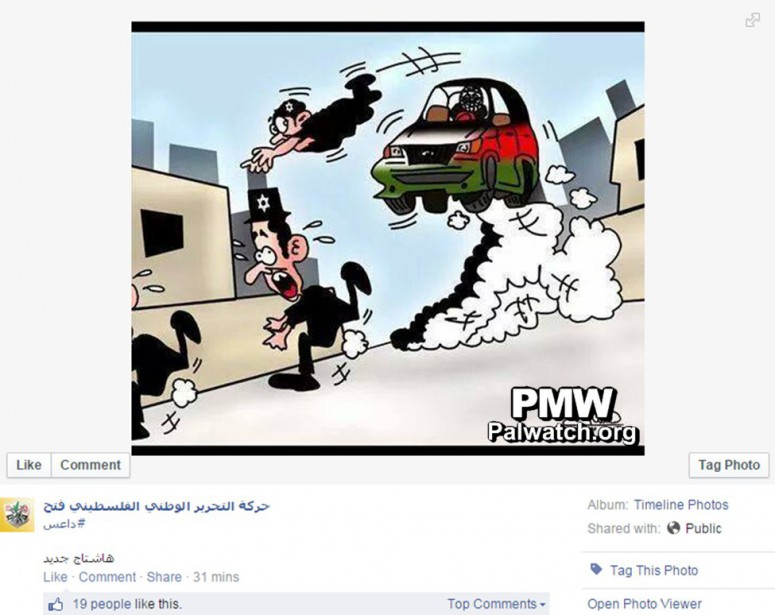 """So-called """"moderate"""" Mahmoud Abbas' Fatah party encourages Muslims to wage vehicular jihad and run over Jews"""