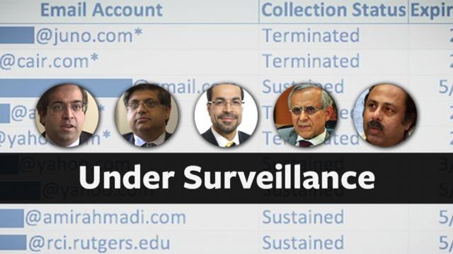 The National Security Agency and FBI have covertly monitored the emails of prominent Muslim-Americans—including a political candidate and several civil rights activists, (Nihad Awad is center photo) academics, and lawyers—under secretive procedures intended to target terrorists and foreign spies. Many of the email addresses on the list appear to belong to foreigners whom the government believes are linked to Al Qaeda, Hamas, and Hezbollah.