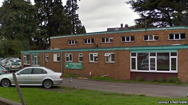 The former ambulance station bring illegally used a a mosque where the pigs heads were dumped