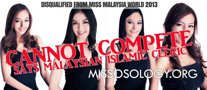 Los organizadores de Miss Malasia Mundial 2013 del concurso se vieron obligados a abandonar sus finalistas musulmanes a raíz de una fatwa que prohíbe a las mujeres musulmanas se unan a los concursos de belleza