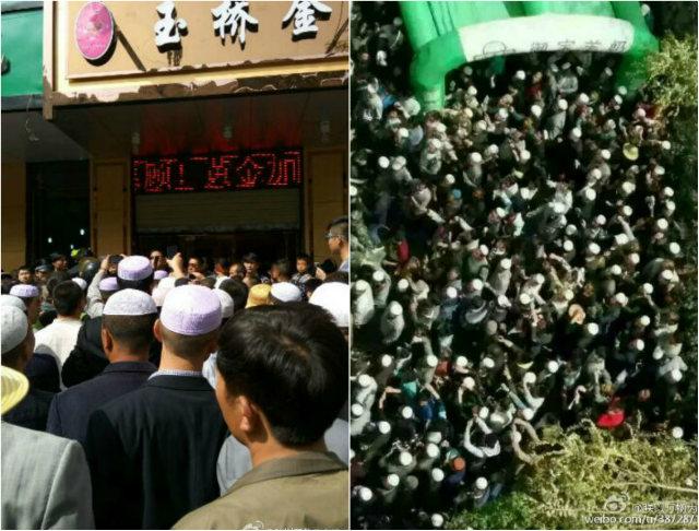 el 1 de mayo, un grupo de residentes musulmanes se reunieron en la tienda y procedió a romper para arriba.  No se informó de causalidades.