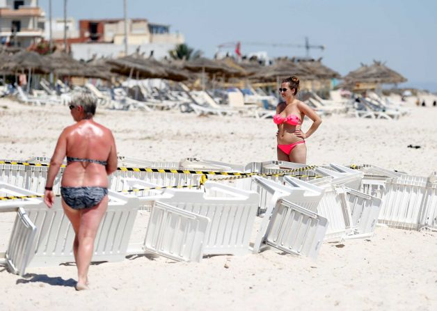 Two tourists who survived the attack