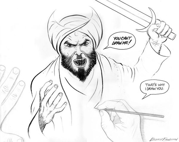 Winning Muhammad Cartoon by Bosh Fawstin