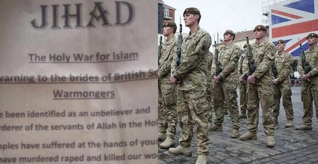 uk mirror ht maria j the letter is entitled jihad the holy war for islam a warning to the brides of british soldier warmongers and threatens to