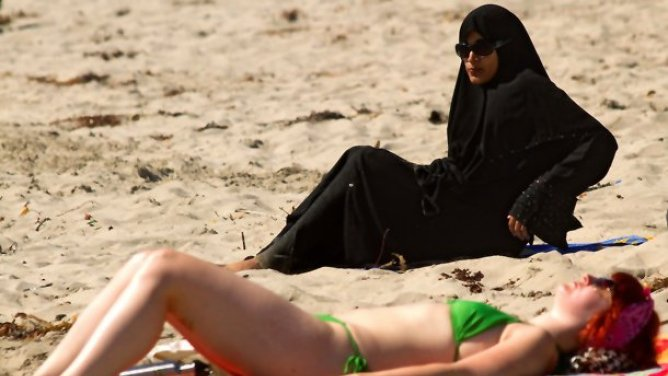 Is that a bomb under your burqa?