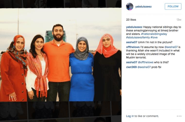 Muslim jihadist Mohammad, center.