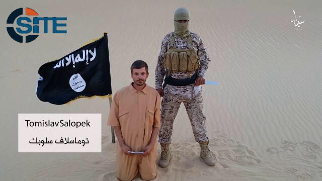 Tomislav Salopek reading a statement right before he was brutally killed by an Egyptian group calling itself the Sinai Province of the Islamic State