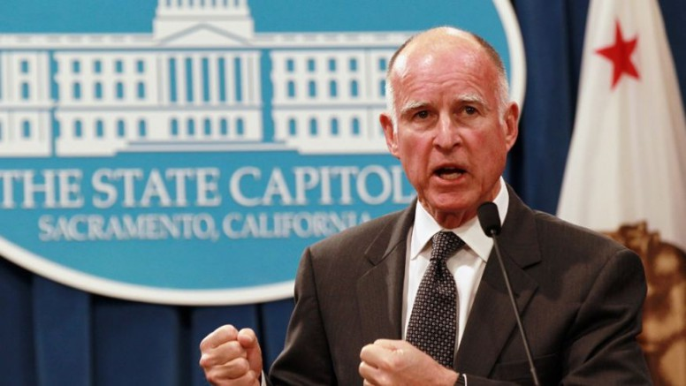 America-hater Gov. Jerry Brown