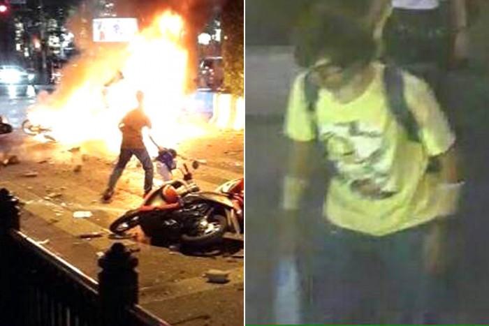 Sospecha de bombardero en camisa amarilla