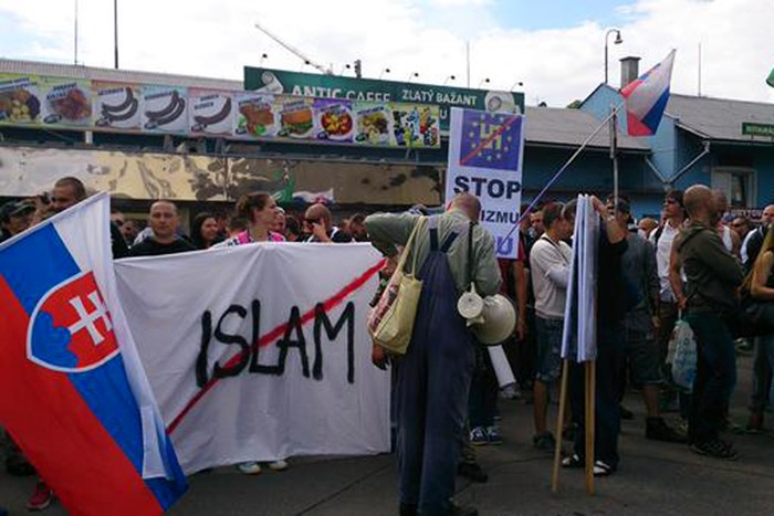Thousands of Slovakians in the streets to protest Muslim invasion