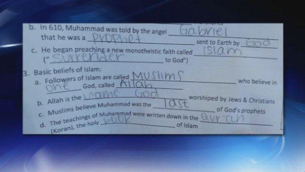 Homework assignment on Islam