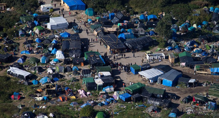 "The aptly named ""JUNGLE"" where muslims congregate waiting to break into a truck to get to the UK"