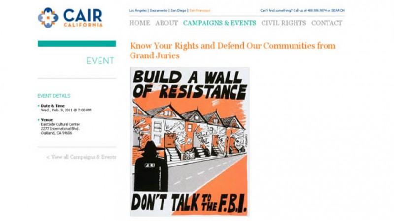 CAIR tells muslims not to cooperate with the FBI