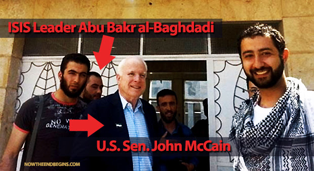 "The ""brave fighters"" McCain is referring to are members of ISIS (Abu Bakr al-Baghdadi is the leader of ISIS)"