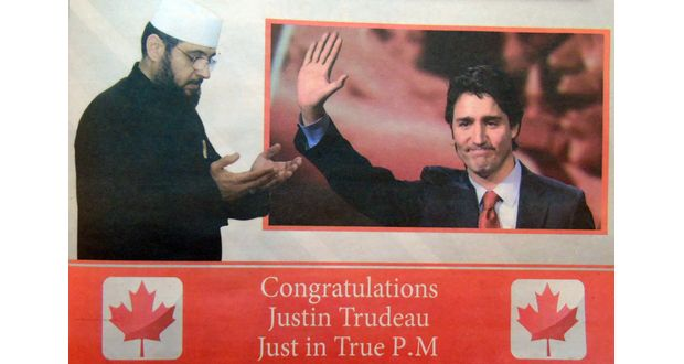 Ahmed-Shehab-congratulates-Justin-Trudeau-Photo-screenshot-Al-Watan-newspaper