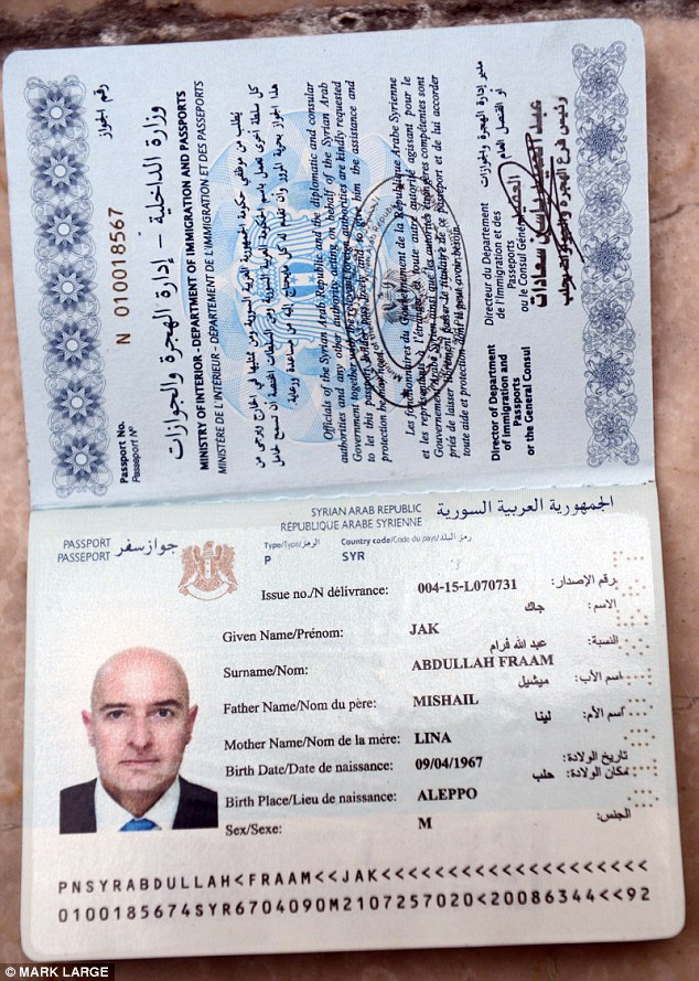 UK Daily Mail reporter was able to acquire the $2,000 haul of documents within just four days from criminals. Above are Syrian passport, driving licence and identity card