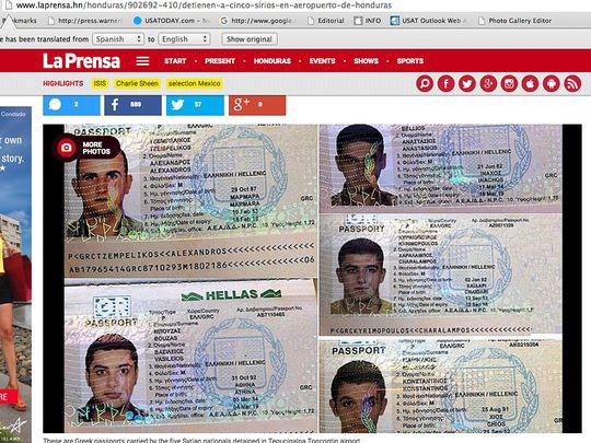 U.S.-bound Syrians arrested in Honduras with fake passports