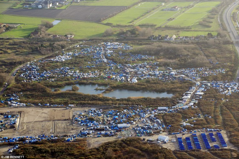 Home to 6 - 7,000 Muslim invaders, THE JUNGLE tent camp in Calais is now being demolished