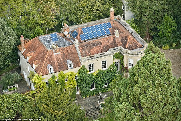 George and Amal Clooney bought this £10million nine-bedroom mansion in the Berkshire village of Sonning Eye, near Reading, England