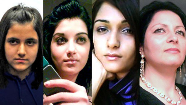 The four family members killed by Hamad Shafia, his father Mohammad, and his mother Tooba