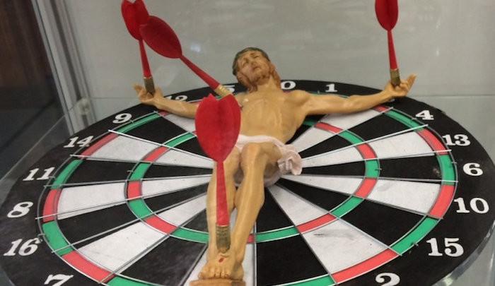 Jesus-dartboard