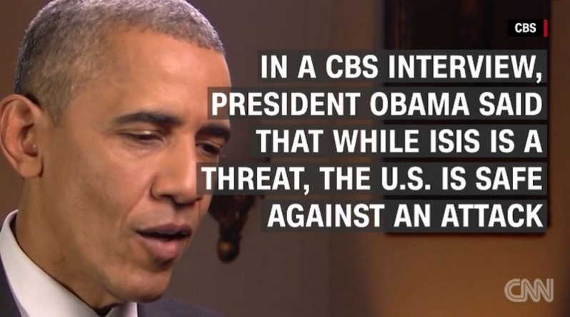 Said Obama a day before the San Bernardino terror attack