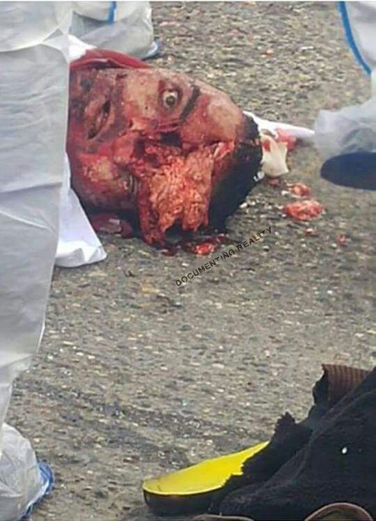 The dead Muslim male assassin, killed by police
