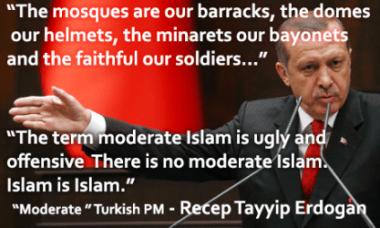 Erdogan-bayonetas y moderados-Islam