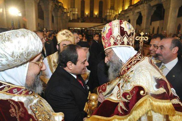 Not surprisingly, al-Sisi is adored by the Coptic Christian Church in Egypt