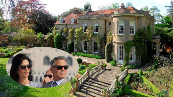 George Clooney and his new bride, influential lawyer-activist Amal Alamuddin, have purchased a historic English manor nestled upon a private island for $12 million.