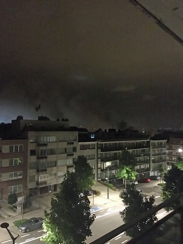 Smoke from the blast could be seen for miles