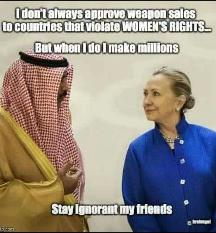 Image result for hillary enabling the arabs